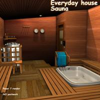 Everyday house - Sauna Props/Scenes/Architecture greenpots