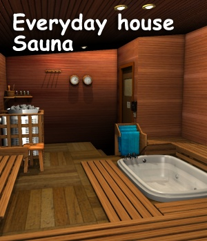 Everyday house - Sauna 3D Models greenpots