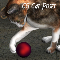 CG Cat Poses 3D Figure Essentials ChristineG