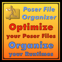 Poser File Organizer 3 3D Software : Poser : Daz Studio : iClone Dimension3D