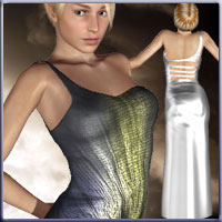 Starlight Dress 3D Figure Essentials 3D Models prae