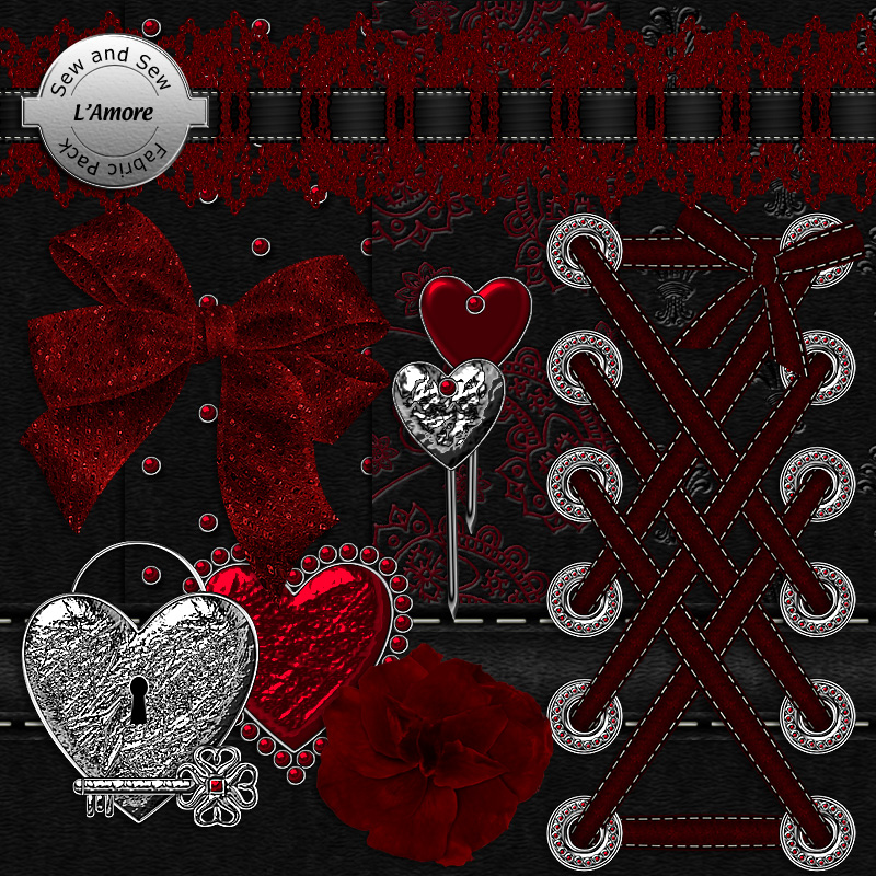 Sew and Sew L'Amore Fabric Pack