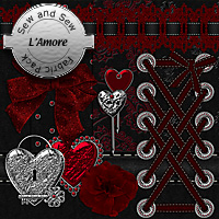 Sew and Sew L'Amore Fabric Pack 2D 3D Models macatelier