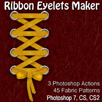 Ribbon Eyelets Maker 2D Graphics designfera