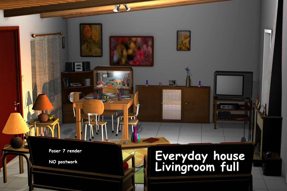 Everyday house - Living room full