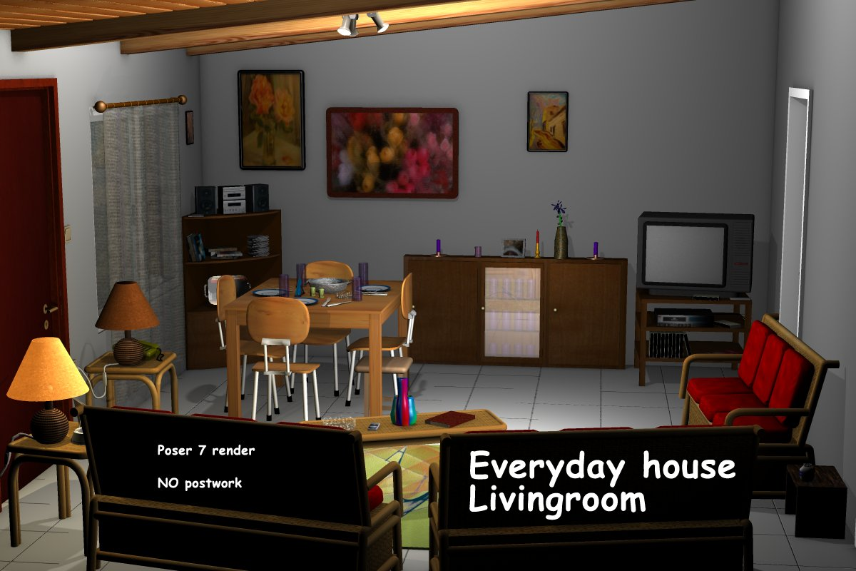 Everyday house - Livingroom by greenpots