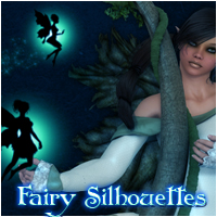 Fairy Silhouettes Themed 2D And/Or Merchant Resources patslash