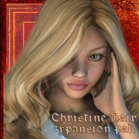 Christine Hair Exp Pak 3D Figure Assets goldtassel
