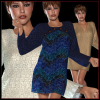 V4 Dynamic Sweaterdress Clothing Valerian70