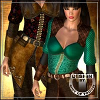 °Adventurous° Textures for Corsair Outfit for V4 by Xurge3D  outoftouch