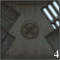 Seamless Textures Collection - Industrial 2D Black_Star