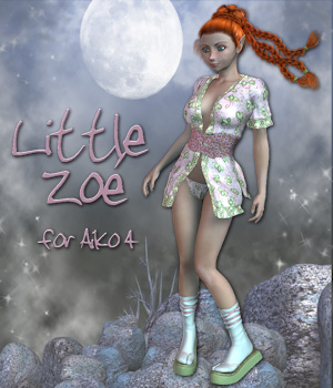 Little Zoe 3D Figure Assets Tipol