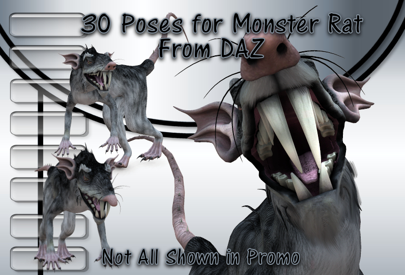 30 Poses for Monster Rat