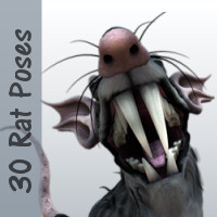 30 Poses for Monster Rat 3D Figure Assets WhopperNnoonWalker-