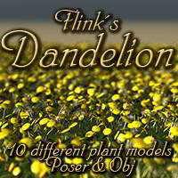 Flinks Dandelion Themed Props/Scenes/Architecture Flink