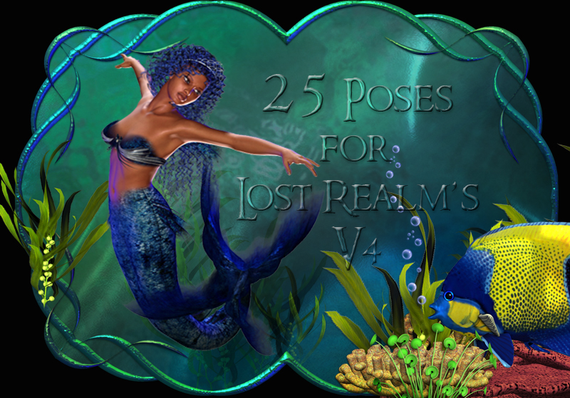 CG mermaid Poses V4 by ChristineG