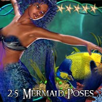 CG mermaid Poses V4 3D Figure Essentials ChristineG