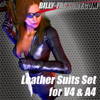 V4A4 BodySuits Set 3D Figure Assets billy-t