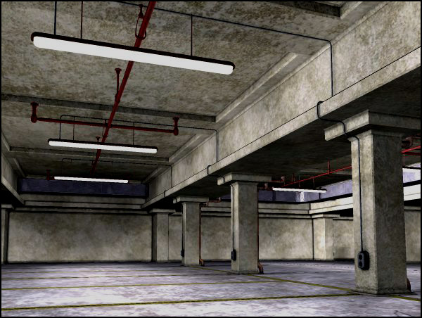 Underground Parking Garage (Poser & Vue)