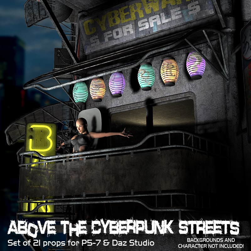 Above The Cyberpunk Streets