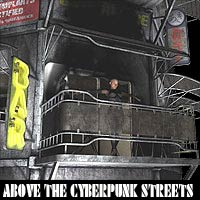 Above The Cyberpunk Streets by coflek-gnorg