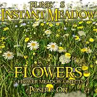 Flinks Instant Meadow - Flowers 3D Models Flink
