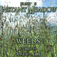 Flinks Instant Meadow - Weeds 3D Models Flink