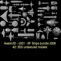 2008 SF SHIPS BUNDLE Themed Transportation Props/Scenes/Architecture rj001