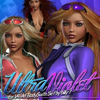 UltraViolet for V4A4 BodySuits Set 3D Figure Essentials ShanasSoulmate