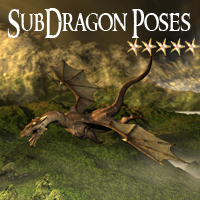 CG SubDragon Poses 3D Figure Essentials ChristineG