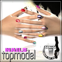 Topmodel Nails for V4 & A4 2D Graphics outoftouch