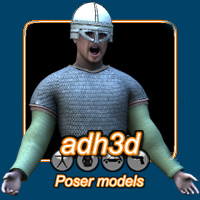 Viking Warrior 3D Models 3D Figure Essentials adh3d