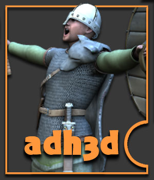 Viking Warrior 3D Models 3D Figure Assets adh3d