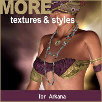 MORE Textures & Styles for Arkana 3D Models 3D Figure Essentials motif