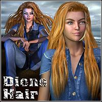 Dione Hair 3D Figure Essentials Mairy