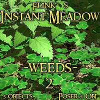 Flinks Instant Meadow - Weeds 2 3D Models Flink