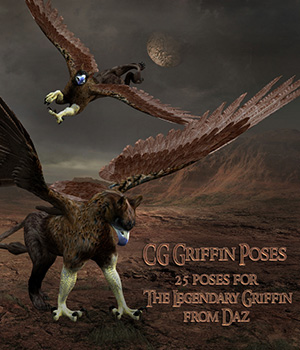 CG Griffin Poses 3D Figure Assets ChristineG