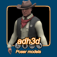 Western Pack for APollo 3D Models 3D Figure Essentials adh3d