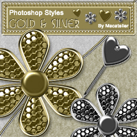 Macatelier's Photoshop Styles: Gold & Silver  macatelier
