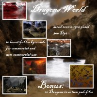 Dragons World 2D Graphics 3D Models capelito
