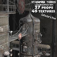 Steampunk Towers Construction Kit 3D Models coflek-gnorg