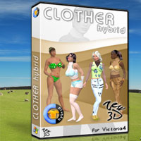 CLOTHER Hybrid for V4 3D Software : Poser : Daz Studio : iClone 3D Figure Assets zew3d