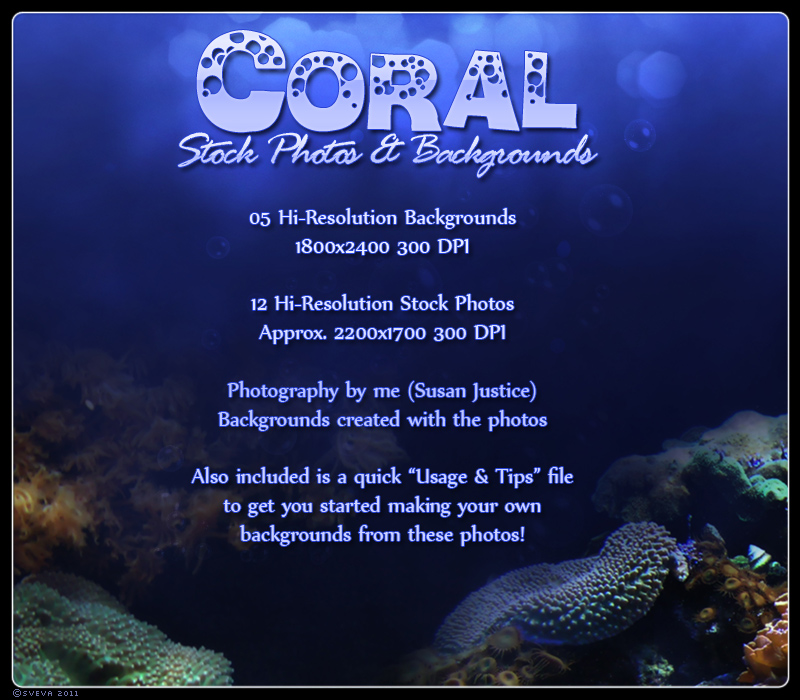 Coral Photos & Background Pack