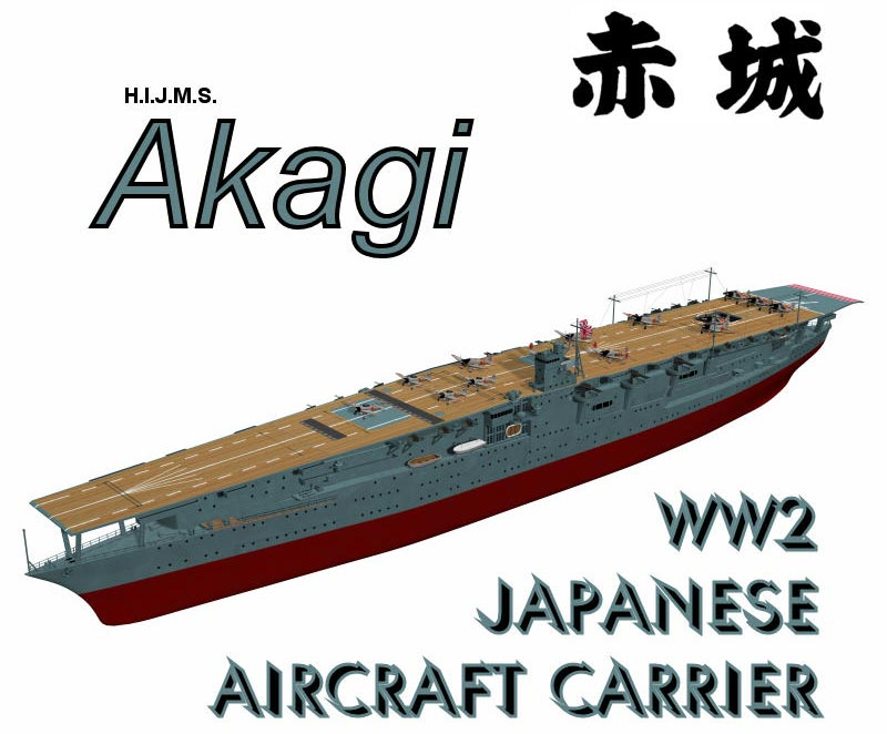 WW2 Aircraft Carrier Akagi