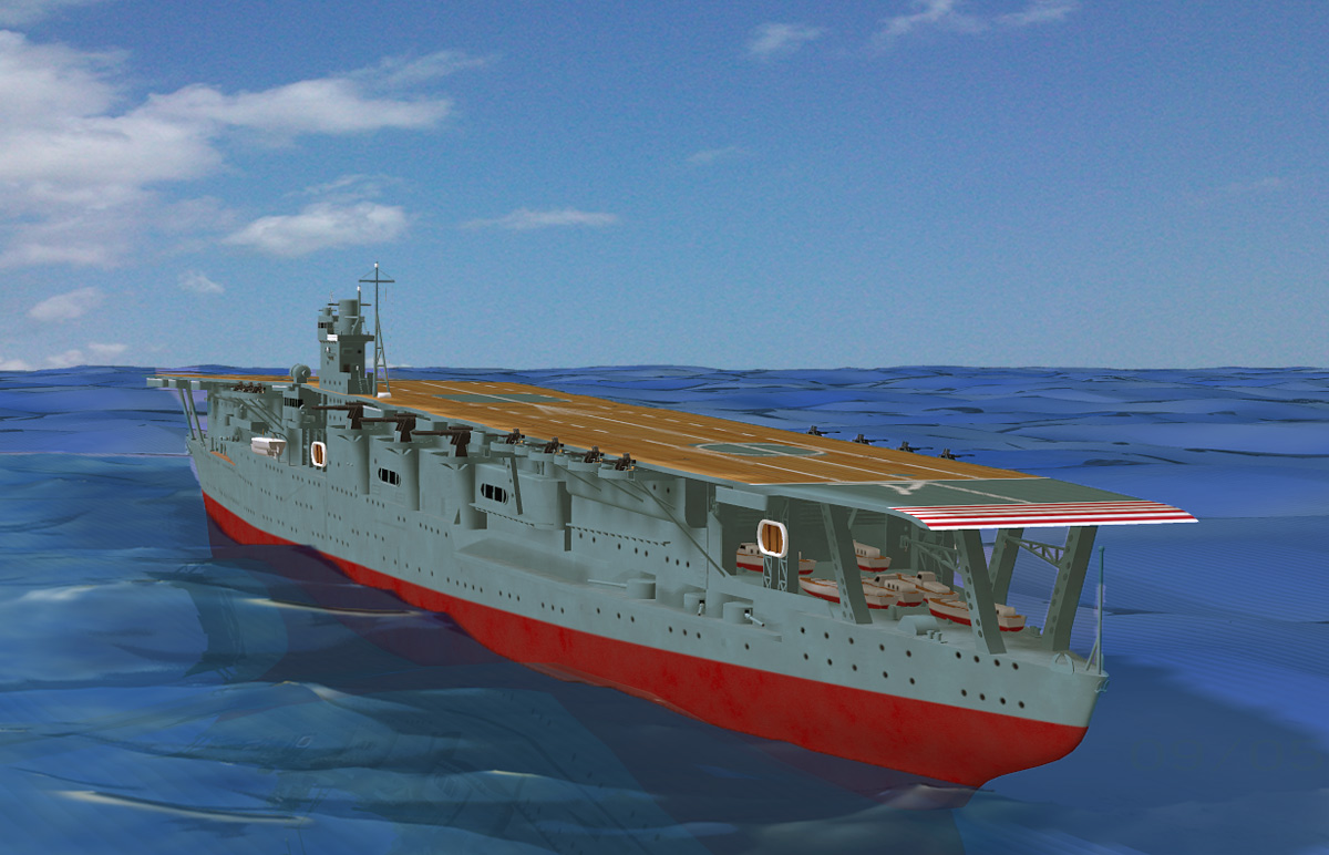WW2 Aircraft Carrier Akagi 3D Models RPublishing