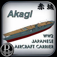 WW2 Aircraft Carrier Akagi Props/Scenes/Architecture Transportation Themed RPublishing