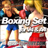 V4A4 Boxing Set 3D Figure Assets billy-t