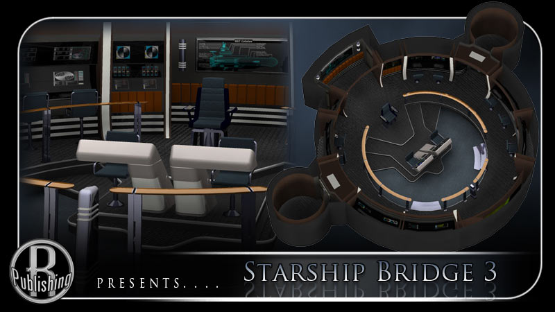 Starship Bridge 3 (Poser & OBJ)