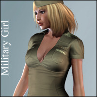 Hongyu's MilitaryGirl for V4 3D Figure Essentials hongyu
