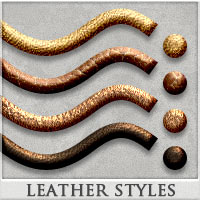 DW - Leather Styles for Photoshop 2D DreamWarrior